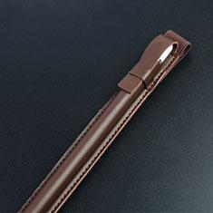 Apple iPad Pro 12.9用Apple Pencil レザー カバー 収納可能 弾性取り外し可能 P04 兼用 アップル ブラウン