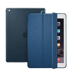Apple iPad Pro 12.9用手帳型 レザーケース スタンド アップル ネイビー