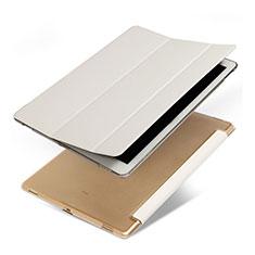 Apple iPad Pro 12.9用手帳型 レザーケース スタンド アップル ホワイト
