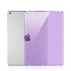 Apple iPad Pro 12.9用極薄ソフトケース シリコンケース 耐衝撃 全面保護 クリア透明 アップル パープル