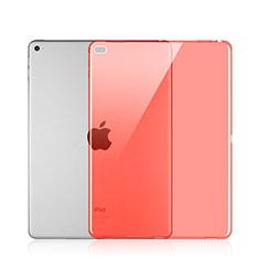 Apple iPad Pro 12.9用極薄ソフトケース シリコンケース 耐衝撃 全面保護 クリア透明 アップル レッド