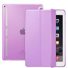 Apple iPad Pro 12.9用手帳型 レザーケース スタンド L02 アップル パープル