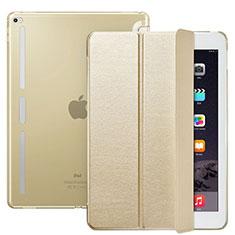 Apple iPad Pro 12.9用手帳型 レザーケース スタンド L02 アップル ゴールド