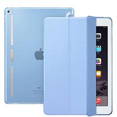 Apple iPad Pro 12.9用手帳型 レザーケース スタンド L02 アップル ブルー