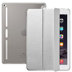 Apple iPad Pro 12.9用手帳型 レザーケース スタンド L02 アップル シルバー