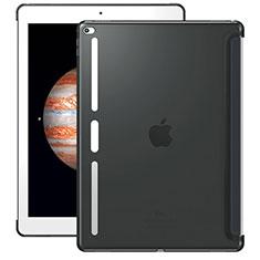 Apple iPad Pro 12.9用極薄ソフトケース シリコンケース 耐衝撃 全面保護 クリア透明 Z01 アップル グレー