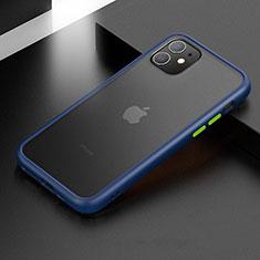 Apple iPhone 11用ハイブリットバンパーケース プラスチック 兼シリコーン カバー アップル ネイビー