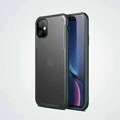Apple iPhone 11用ハイブリットバンパーケース プラスチック 兼シリコーン カバー T01 アップル グリーン