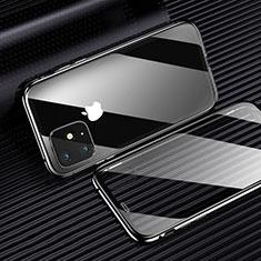 Apple iPhone 11用極薄ソフトケース シリコンケース 耐衝撃 全面保護 クリア透明 H01 アップル ブラック