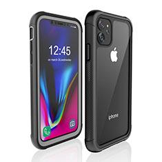 Apple iPhone 11用完全防水ケース ハイブリットバンパーカバー 高級感 手触り良い 360度 W02 アップル ブラック