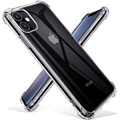 Apple iPhone 11用極薄ソフトケース シリコンケース 耐衝撃 全面保護 クリア透明 T03 アップル クリア