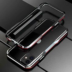 Apple iPhone 11用ケース 高級感 手触り良い アルミメタル 製の金属製 バンパー カバー アップル レッド・ブラック