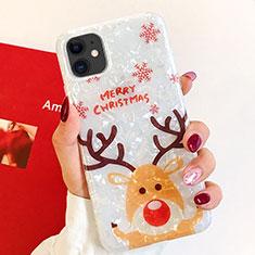 Apple iPhone 11用シリコンケース ソフトタッチラバー クリスマス カバー アップル マルチカラー