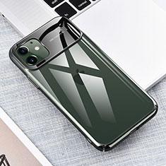 Apple iPhone 11用ハードカバー クリスタル クリア透明 S04 アップル グリーン
