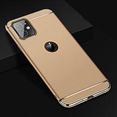 Apple iPhone 11用ケース 高級感 手触り良い メタル兼プラスチック バンパー T01 アップル ゴールド