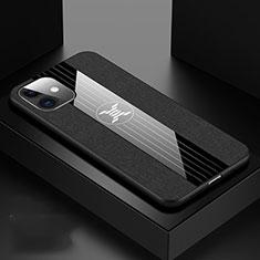 Apple iPhone 11用360度 フルカバー極薄ソフトケース シリコンケース 耐衝撃 全面保護 バンパー C04 アップル ブラック