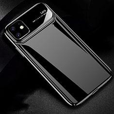 Apple iPhone 11用ハードケース プラスチック 質感もマット カバー P02 アップル ブラック