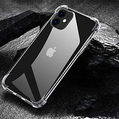 Apple iPhone 11用極薄ソフトケース シリコンケース 耐衝撃 全面保護 クリア透明 U01 アップル クリア