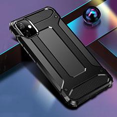 Apple iPhone 11用ハイブリットバンパーケース プラスチック 兼シリコーン カバー R01 アップル ブラック