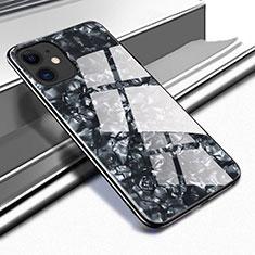 Apple iPhone 11用ハイブリットバンパーケース プラスチック 鏡面 カバー T05 アップル ブラック