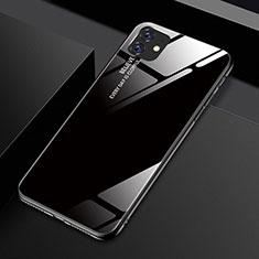 Apple iPhone 11用ハイブリットバンパーケース プラスチック 鏡面 虹 グラデーション 勾配色 カバー H01 アップル ブラック