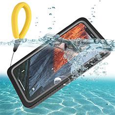 Apple iPhone 11用完全防水ケース ハイブリットバンパーカバー 高級感 手触り良い 360度 U01 アップル ブラック