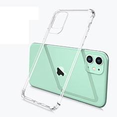 Apple iPhone 11用極薄ソフトケース シリコンケース 耐衝撃 全面保護 クリア透明 U03 アップル クリア
