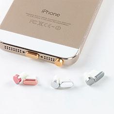 Apple iPhone 11用アンチ ダスト プラグ キャップ ストッパー Lightning USB J05 アップル ゴールド