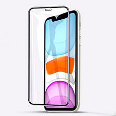Apple iPhone 11用強化ガラス フル液晶保護フィルム F02 アップル ブラック