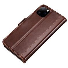Apple iPhone 11 Pro用手帳型 レザーケース スタンド カバー L01 アップル ブラウン