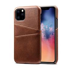 Apple iPhone 11 Pro用ケース 高級感 手触り良いレザー柄 R10 アップル ブラウン