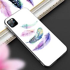 Apple iPhone 11 Pro用ハイブリットバンパーケース プラスチック パターン 鏡面 カバー M02 アップル ホワイト