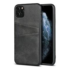 Apple iPhone 11 Pro用ケース 高級感 手触り良いレザー柄 R15 アップル ブラック