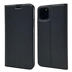 Apple iPhone 11 Pro用手帳型 レザーケース スタンド カバー T17 アップル ブラック