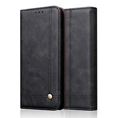 Apple iPhone 11 Pro用手帳型 レザーケース スタンド カバー T19 アップル ブラック