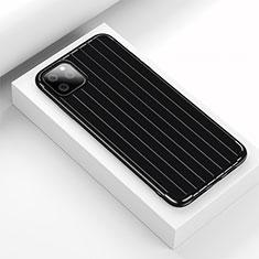 Apple iPhone 11 Pro用シリコンケース ソフトタッチラバー ライン カバー C01 アップル ブラック