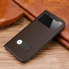 Apple iPhone 11 Pro用手帳型 レザーケース スタンド カバー T20 アップル ブラウン