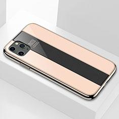 Apple iPhone 11 Pro用ハイブリットバンパーケース プラスチック 鏡面 カバー T01 アップル ゴールド