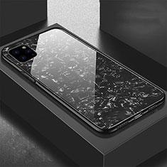 Apple iPhone 11 Pro用ハイブリットバンパーケース プラスチック 鏡面 カバー T06 アップル ブラック