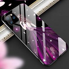 Apple iPhone 11 Pro用ハイブリットバンパーケース プラスチック ドレスガール ドレス少女 鏡面 カバー M01 アップル パープル