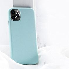 Apple iPhone 11 Pro用360度 フルカバー極薄ソフトケース シリコンケース 耐衝撃 全面保護 バンパー C03 アップル シアン