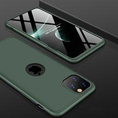 Apple iPhone 11 Pro用ハードケース プラスチック 質感もマット 前面と背面 360度 フルカバー P01 アップル グリーン