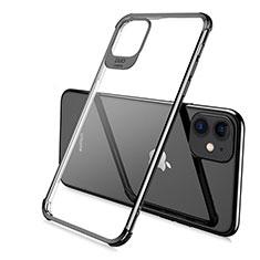 Apple iPhone 11 Pro用極薄ソフトケース シリコンケース 耐衝撃 全面保護 クリア透明 S06 アップル ブラック