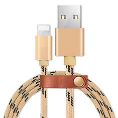 Apple iPhone 11 Pro Max用USBケーブル 充電ケーブル L05 アップル ゴールド