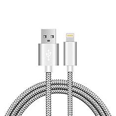 Apple iPhone 11 Pro Max用USBケーブル 充電ケーブル L07 アップル シルバー
