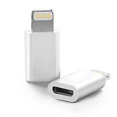 Apple iPhone 11 Pro Max用Android Micro USB to Lightning USB アクティブ変換ケーブルアダプタ H01 アップル ホワイト