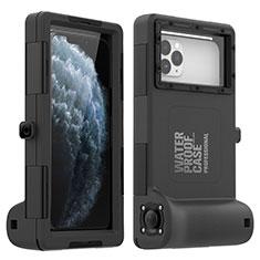Apple iPhone 11 Pro Max用完全防水ケース ハイブリットバンパーカバー 高級感 手触り良い 水面下 アップル ブラック