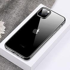 Apple iPhone 11 Pro Max用極薄ソフトケース シリコンケース 耐衝撃 全面保護 クリア透明 H02 アップル ブラック