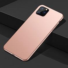 Apple iPhone 11 Pro Max用ハードケース プラスチック 質感もマット カバー M02 アップル ゴールド