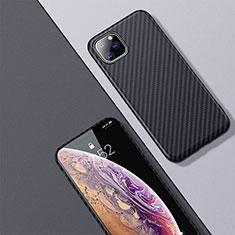 Apple iPhone 11 Pro Max用炭素繊維ケース ソフトタッチラバー ツイル カバー アップル ブラック